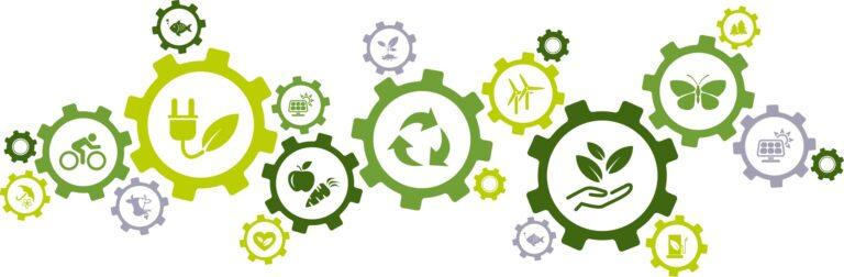 iconos relacionados con el cuidado del medio ambiente y reciclaje